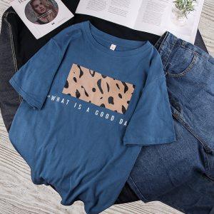 T-shirt streetwear good day bleu