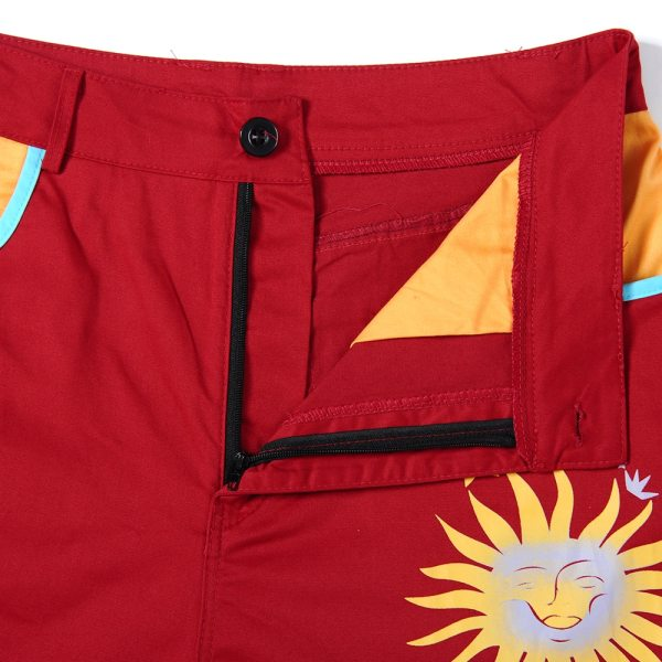 Pantalon Tumblr - Soleil rouge