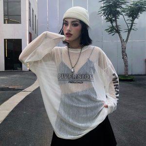 T-shirt à manches longues - Ample