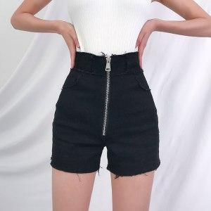 Short noir avec fermeture - Jean