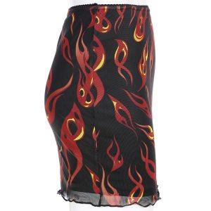 Jupe streetwear transparente - Flamme