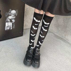 Collants noirs opaques - Chauve souris