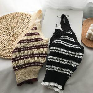 Haut en tricot - Lignes