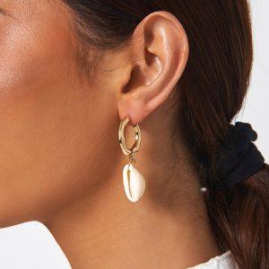 Boucles d'oreilles vsco - Coquillage