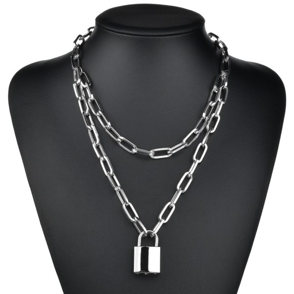 Collier cadenas - Argent