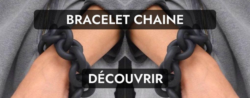 Bracelet grunge gris chaine