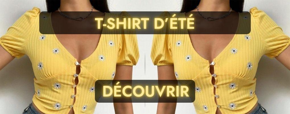 T-shirt vintage jaune d'été