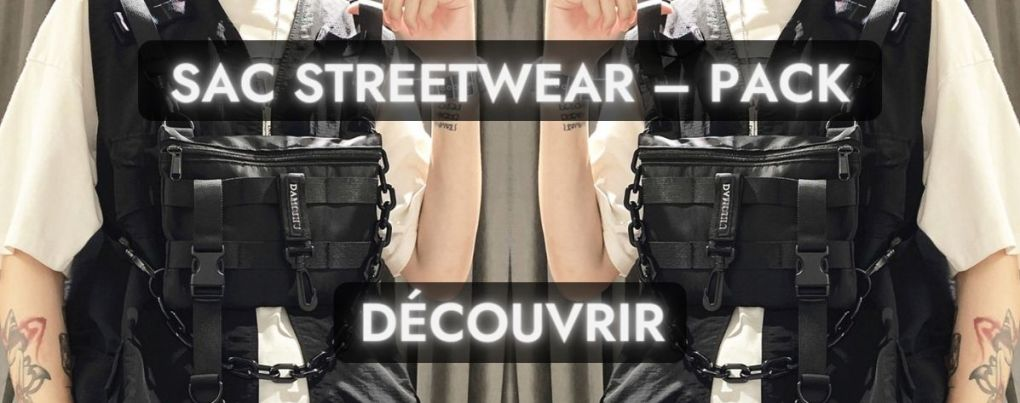 Sac noir streetwear
