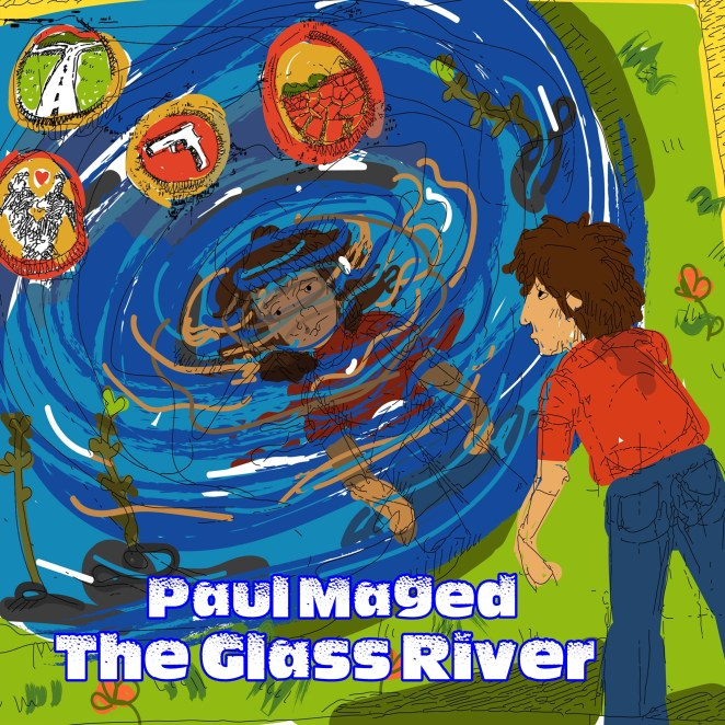 Paul Maged's cover art for 'The Glass River'