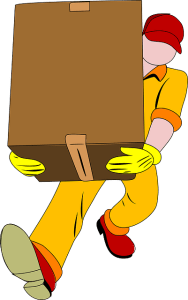 A movers that carries a box