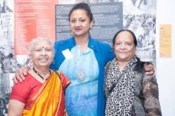Laxmiben Patel, Poulomi Desai, Chandrikaben Patel ©Pete Webster/Grunwick 40