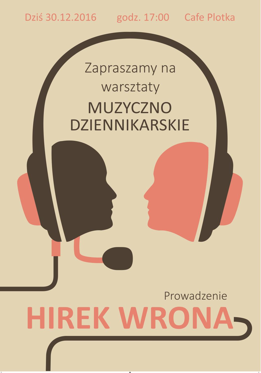 Hirek Wrona – warsztaty muzyczno-dziennikarskie