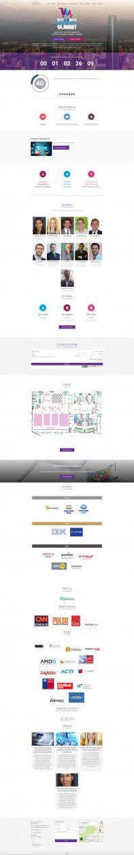 Frontpage Sitio web para evento E-commerce Innovation Summit