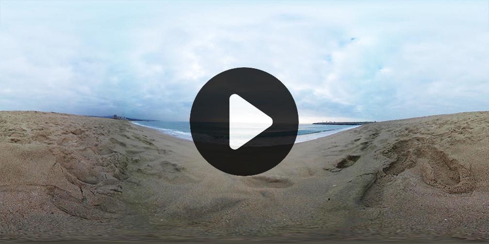 Vídeo 360 Playa Mar Mediterráneo Thumbnail