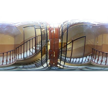 360 Barcelona Interior agujero de ascensor antiguo miniatura
