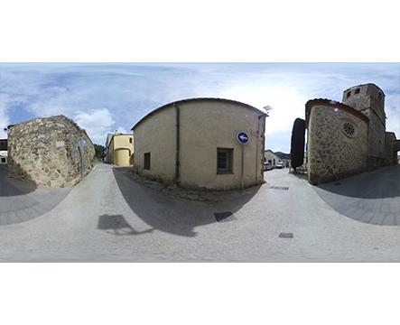 360 Dosrius Pueblo antiguo con iglesia miniatura