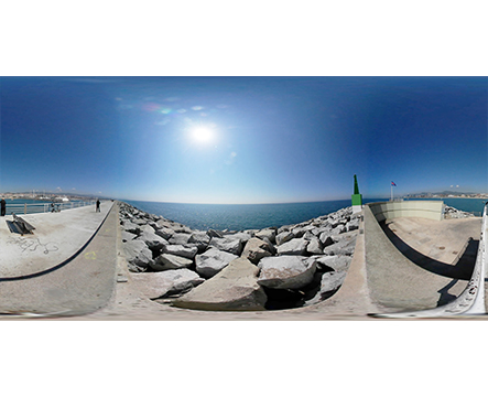 360 Puerto Mataró Faro miniatura