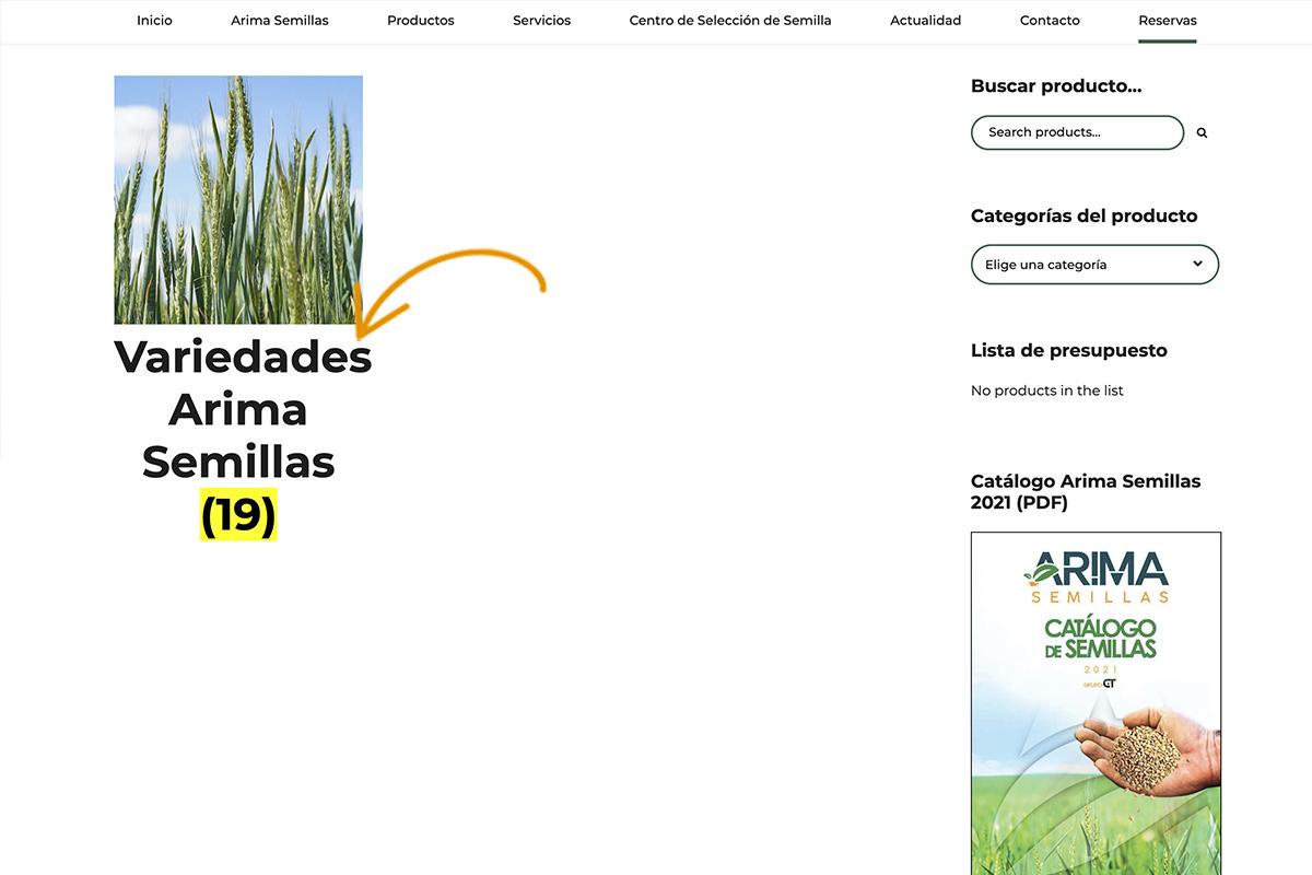 Pre-reserva Arima Semillas