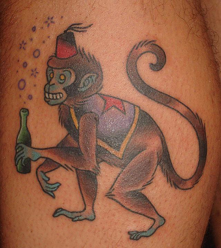 tatoo monkey