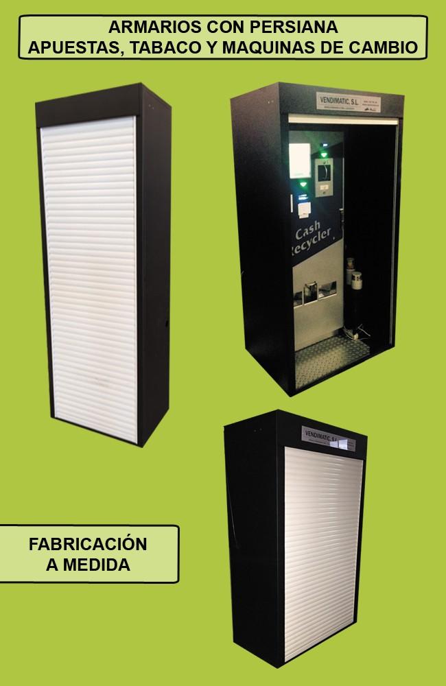 Armario de seguridad con persiana para máquina de apuestas, tabaco y cambio
