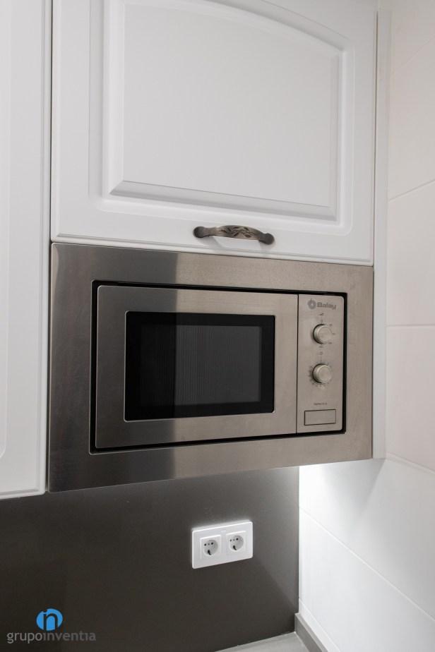 microondas integrado cocina