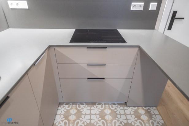 mueble beige cocina