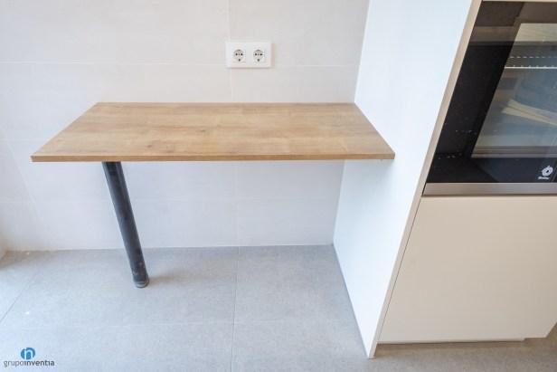 barra de cocina madera