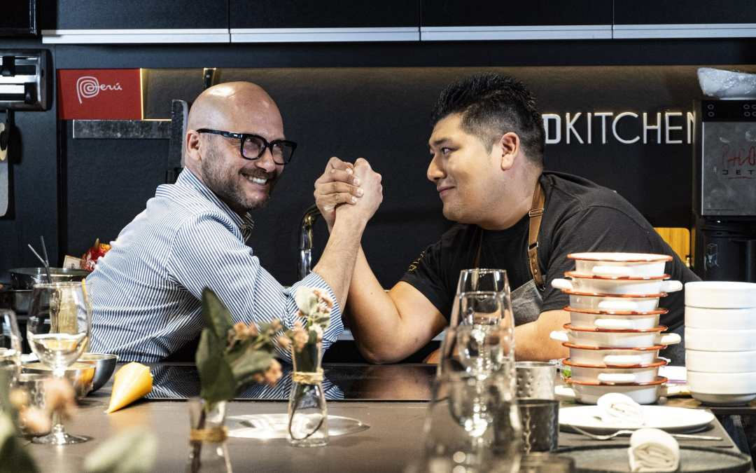 Chef Charlie Otero y  chef Jhosef Arias