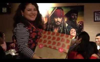 Cena navideña del grupo Jhosef Arias