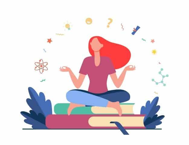 woman-sitting-meditating-pile-books-student-study-learning-flat-vector-illustration-education-knowledge_74855-8686