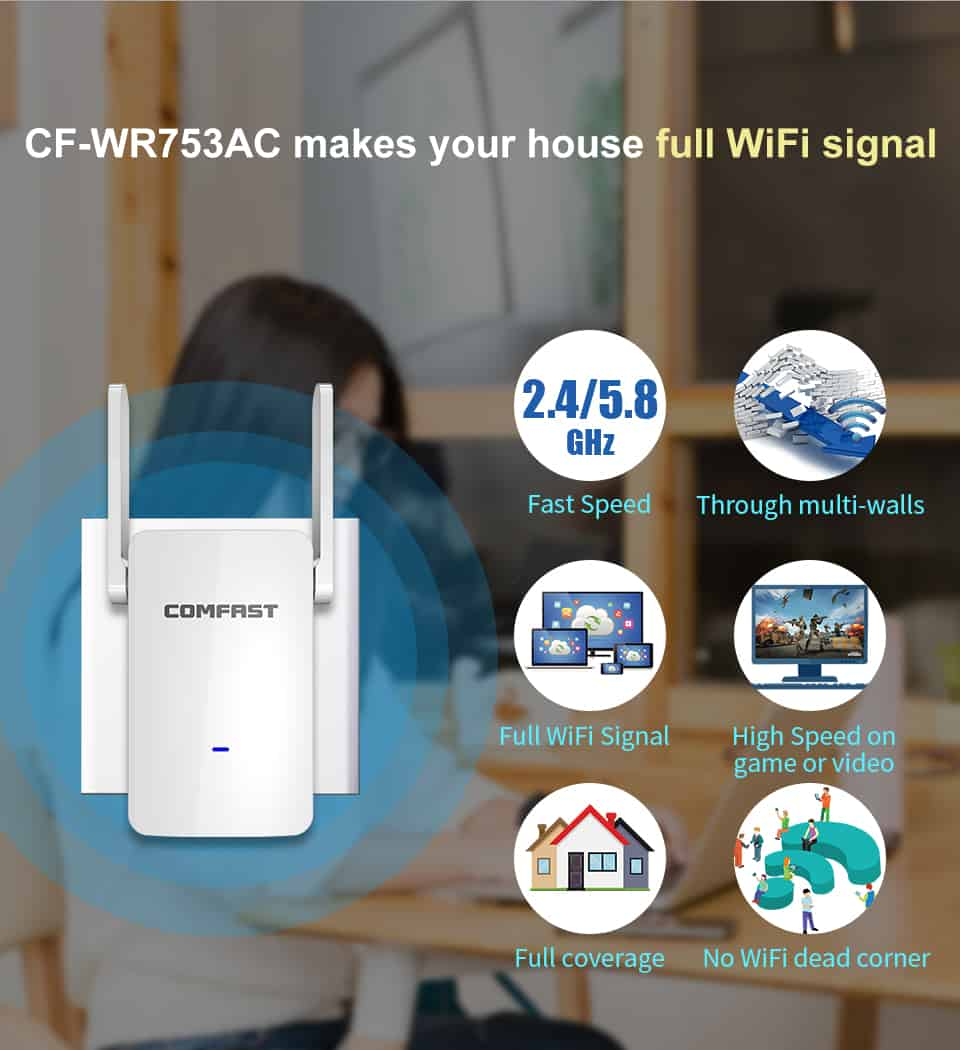 Comfast CF-WR753AC makes your house full WiFi signal