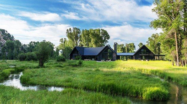Caba a de pesca de carney logan burke architects en for Jackson wyoming alloggio cabine