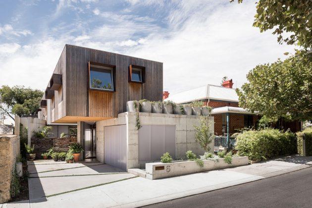 Silver Street House por EHDO en South Fremantle, Australia