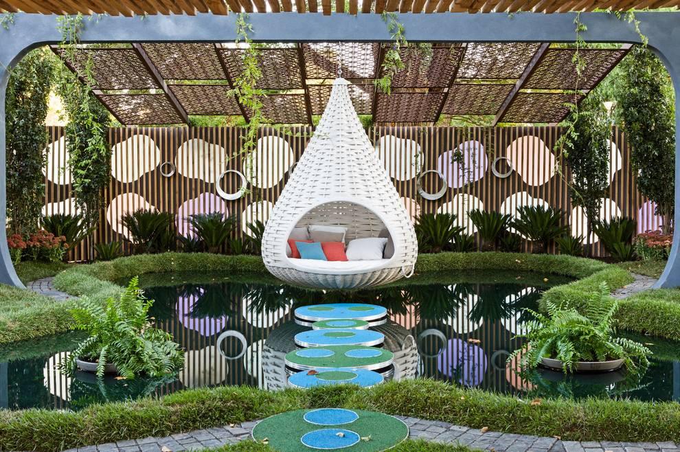 16 hermosos diseños de paisajes tropicales para tu jardín perfecto