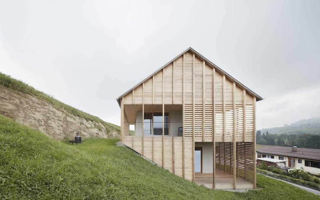 Höller House by Innauer Matt Architekten in Alberschwende, Austira