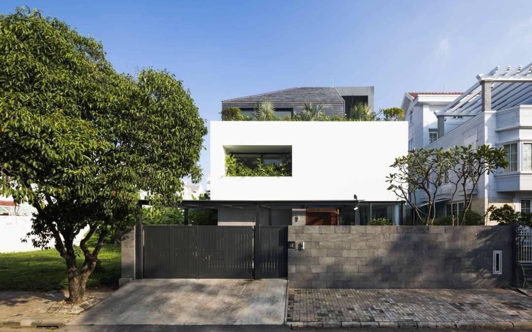 White Cube House por MM ++ Architects en Ciudad Ho Chi Minh, Vietnam