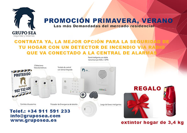 Promo detector de Humo. Grupo SEA sistemas de seguridad