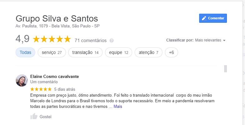avaliaçao google