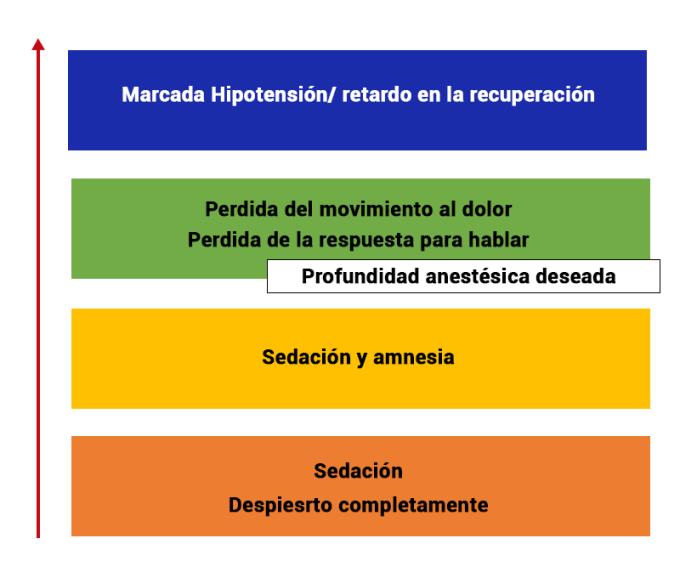 concentración de los anestésicos