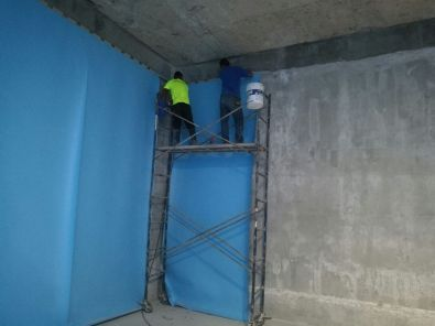 Impermeabilización de tanque de agua con membrana de TPO