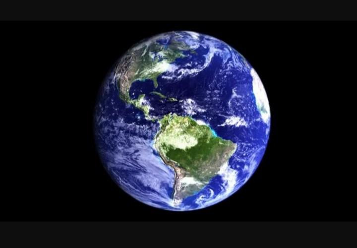 imagen de la Tierra desde el espacio con la imagen centrada en el continente americano