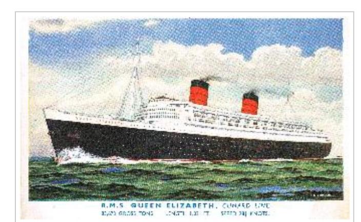 postal del Queen Elizabeth