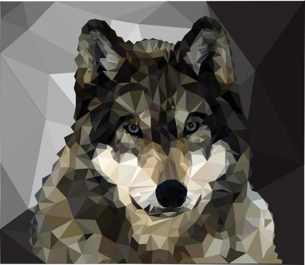 imagen pixelada de una loba