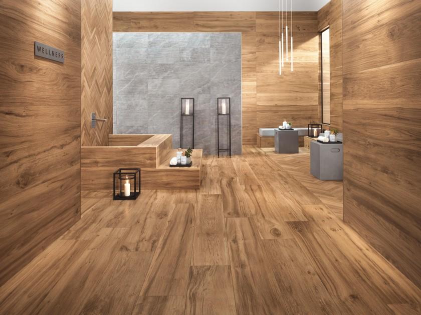 natural wood effect porcelain tiles