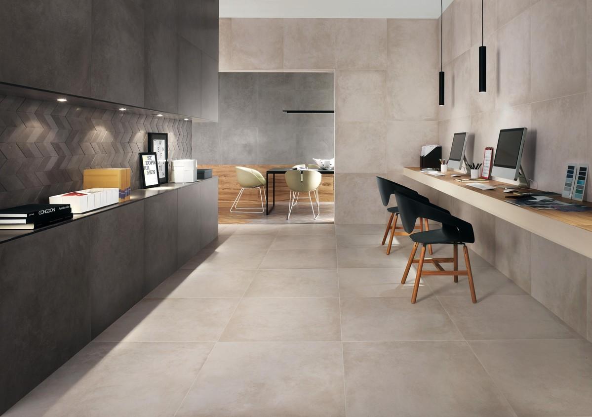 dwell concrete look porcelain tiles