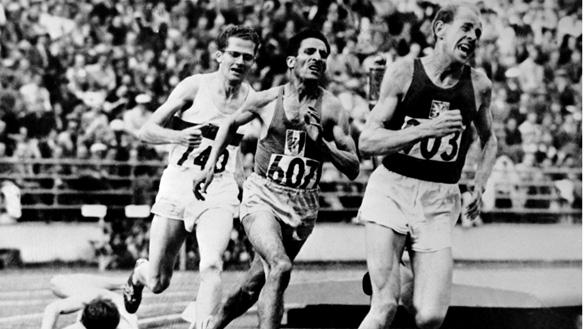 Emil Zátopek a Helsinki, 26 luglio 1952