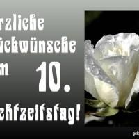 10. Hochzeitstag (Holzhochzeit/Rosenhochzeit)
