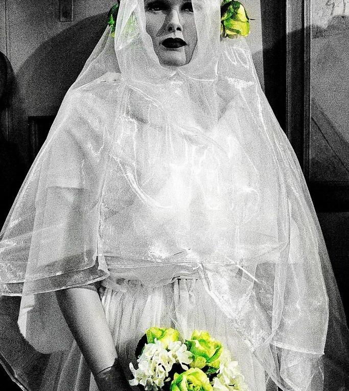 Hochzeitskarte, Braut mit Straß