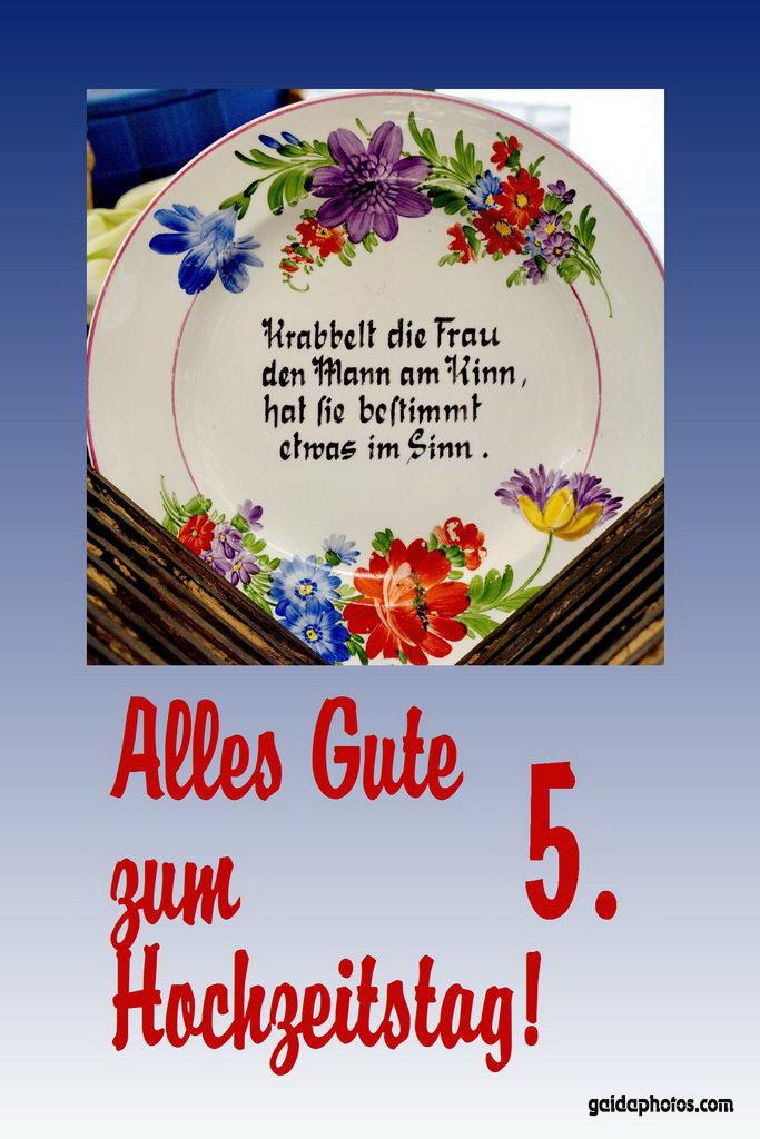 Hochzeitskarte Gedicht Holzhochzeit