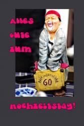 Karte 60. Hochtzeitstag  Clown lustig